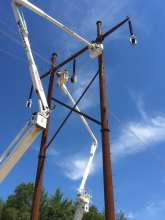 Michels Power, Inc. rebuilt a 4.5-mile section of a 115kV 1779 line.