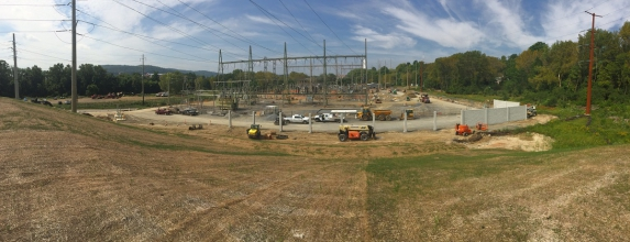 Michels Power, Inc. installed 13 caisson foundations inside of the PPL Quarry 230kV-69kV substation in Bethlehem, Pennsylvania. The foundations ranged in diameter from 6.5 to 8 feet and were excavated up to 45 feet deep.