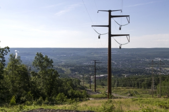 Michels Power, Inc. built 3.8 miles of 230kV triple-bundle transmission line to connect the Lackawanna substation to a new substation.