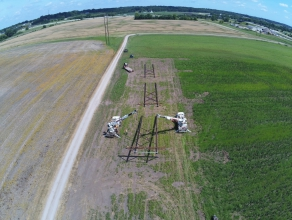 Michels Power, Inc. performed an emergency repair after straight line winds passed through East Moline, IL and broke five H-frames.