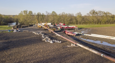 Michels installed 65 miles of 24-inch steel natural gas pipeline to provide natural gas service from Whitehall, IL to the St. Louis, MO metro area.