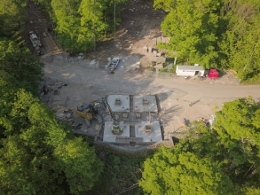 Michels constructed the foundations for a new Eagle Observation Tower in Door County's Peninsula State Park.