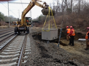 Michels installed 17 miles of electric and signal cables, conduits and splice boxes along Amtrak rail lines from Trenton to North Brunswick, NJ.