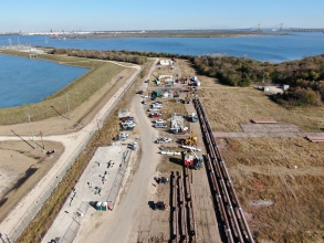 Michels was contracted to complete the final segment of a 20-inch and 36-inch liquid pipelines.