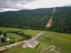 Michels completed the installation of approximately 650 feet of 48-inch steel pipeline underneath the Juniata River via Direct Pipe® method.