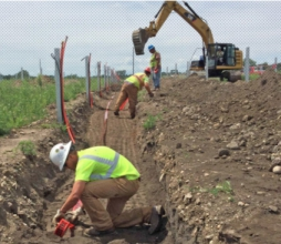 Michels excavated more than 166,000 lineal feet of 3-4 foot deep trenches for 16 solar farm sites at various locations throughout Minnesota.