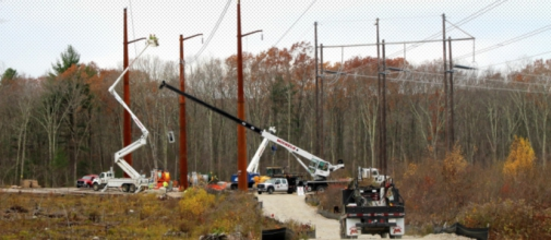 This Michels Power, Inc. project consists of building 38 miles of transmission line as well as rebuilding nine miles of existing line in Massachusetts and Rhode Island.