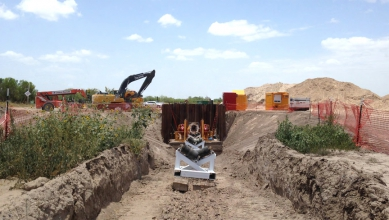 Michels used the Direct Pipe methodology to install a 48-inch gas pipeline under the Rio Grande and the border between the United States and Mexico.