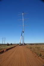 Michels installed 55 miles of 345-kV double and single circuit conductor lines.