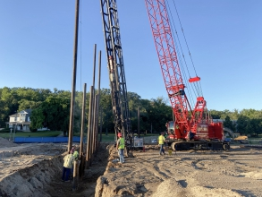 Michels installed 234 driven piles for the Valley City State University's Center for the Arts. The project site had extensive soft to very soft clays with layers of loose sand that could not support the heady loads on the new concert hall.